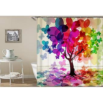 Cortina de ducha del árbol de los colores