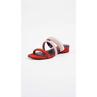 Rebecca Minkoff Womens kade Leather Open Toe Casual Slide Sandals
