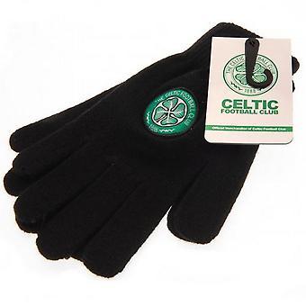 Celtic FC Childrens/Kids Knitted Gloves