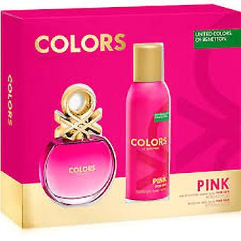 Benetton Colors de Benetton Pink Gift Set 50ml EDT + 150ml Deodorant Spray