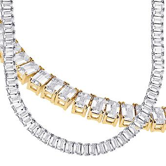 Sterling 925 Silver Baguette CZ Tennis Chain 5mm
