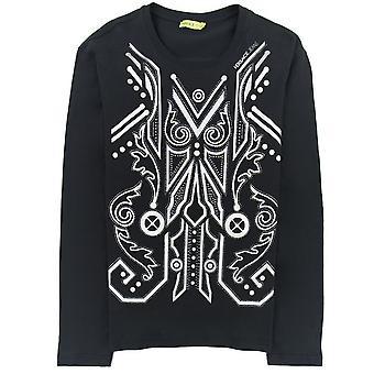 Versace Jeans Print Foil Jersey T Shirt Black