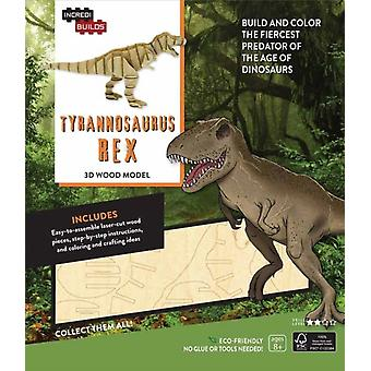 IncrediBuilds Tyrannosaurus Rex 3D Wood Model by Insight Editions