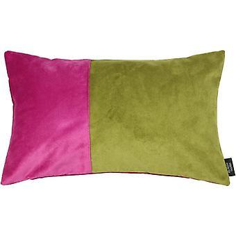 Mcalister textiles 2 colour patchwork velvet pink + grey pillow