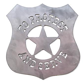 Western to protect and serve - metal cut sign 15x15in