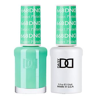DND Duo Gel & Nail Polish Set - Sweet Pistachio 668 - 2x15ml