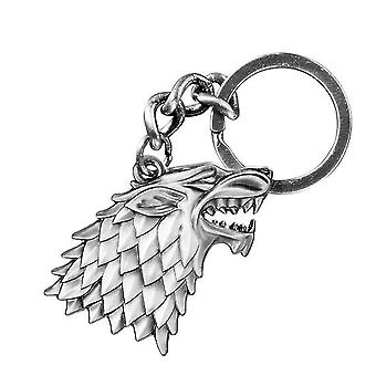 Game of Thrones Key Pendant Coat of Arms Strong Keychain, Silver Colored, Metal.