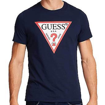 Угадать Mens оригинальный логотип TShirt треугольник