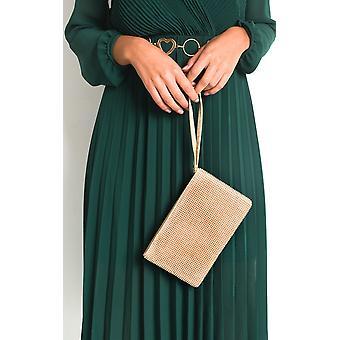 IKRUSH Mulheres Ingrid Diamante Chainmail Clutch Bag