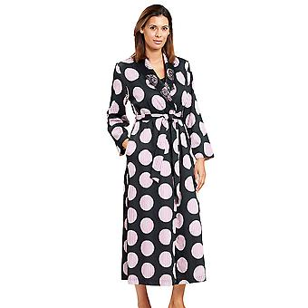 Féraud 3201029-11377 Women's Couture Black Print Spotted Dressing Gown
