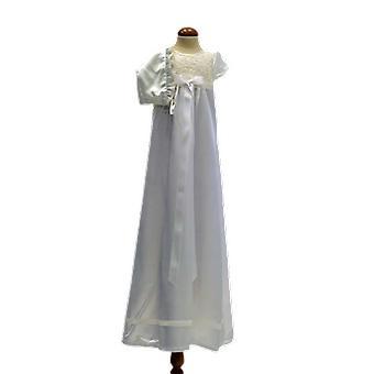 Taufen Kleid, Dophätta I Off weiß, weiß breit Rosette. Grace Of Sweden