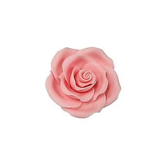 SugarSoft essbare Blume - Rose Hell rosa 50mm - Box von 10