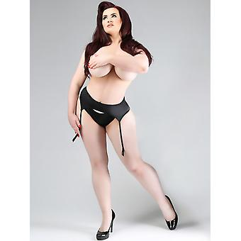 Miss Naughty Curvy Satin Wet Look Suspender Belt