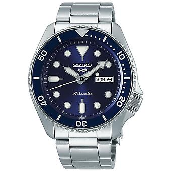 Seiko 5 Sports Blue Dial Silver Stainless Steel Automatic Men's Watch SRPD51K1