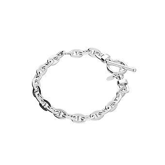 Eternity Sterling Silver Anchor T Bar Bracelet