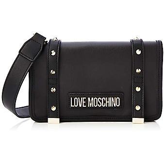الحب موسكينو Jc4080pp1a حقيبة الكتف المرأة السوداء (أسود) 6x14x23 سم (W x H x L)