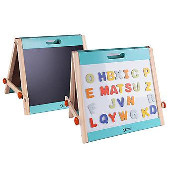 Classic World - Children's Wooden Tabletop Whiteboard and Blackboard Easel for Children and Toddlers