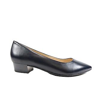 Caprice 22200 Navy Leather Womens Slip On Court Shoes