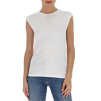 Fabiana Filippi Jed260w457a53321 Women's White Cotton Top
