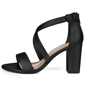 Allegra K Women's Crisscross Straps Dress Sandals