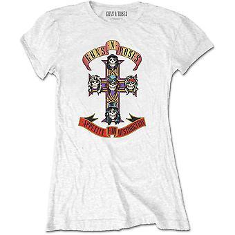 Ladies Guns n' Roses Appetite For Destruction Official T-Shirt Female
