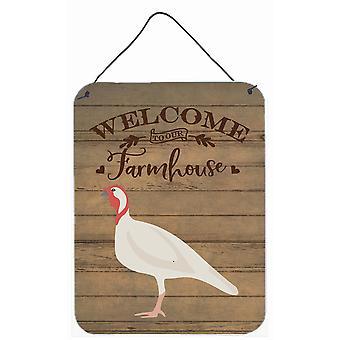 Beltsville pieni valkoinen turkki kana tervetuloa seinätai ovi roikkuu tulosteita