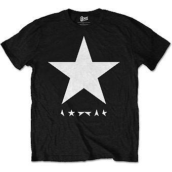 Negro David Bowie Blackstar camiseta oficial camiseta hombres unisex