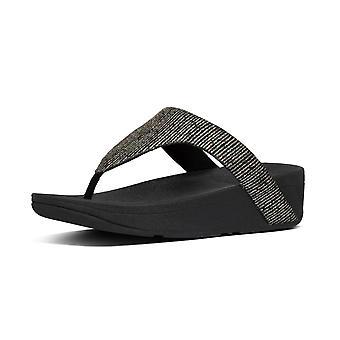 FitFlop Lottie Glitter Stripe™ Toe Post Sandaler i svart