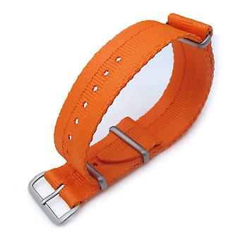 Strapcode n.a.t.o watch strap miltat 22mm g10 military nato watch strap, sandwich nylon armband, brushed - orange
