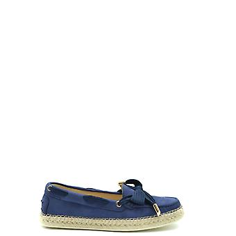 Tod's Ezbc025094 Women's Blue Leather Loafers