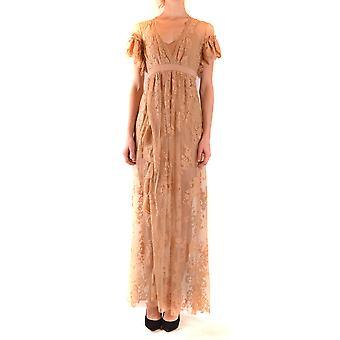 Aniye Von Ezbc098018 Damen's Beige Polyester Kleid