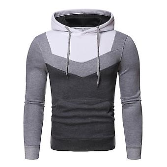 Allthemen Men's Hoodies Color Blocked Sweatshirt Pullover Kanga Pocket Hoodie