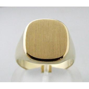 Men's yellow gold seal ring