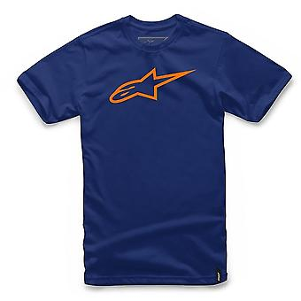 Alpinestars Ageless Tee Short Sleeve T-Shirt in Navy/Orange