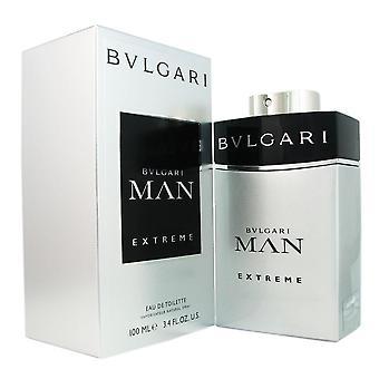 Bvlgari homem extremo para homens 3.4 oz eau de spray de toilette