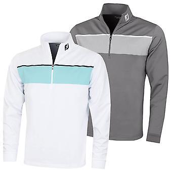 Footjoy Mens Jersey Chest Stripe 1/2 Zip Wicking Golf Sweater