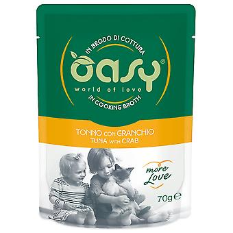 Oasy Tuna Pouch with Crab (Cats , Cat Food , Wet Food)