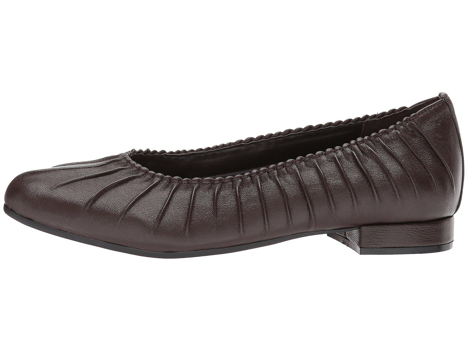 David Tate Womens Santo Leather Closed Toe Casual Slide Sandals