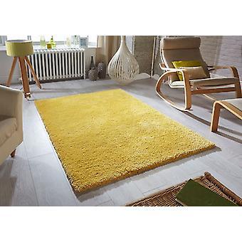 Mjukhet senap rektangel mattor Plain/nästan slätt mattor