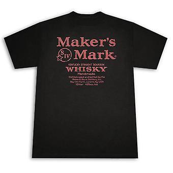 Maker-apos;s Mark Whiskey Label Graphic Men-apos;s T-shirt noir et rouge
