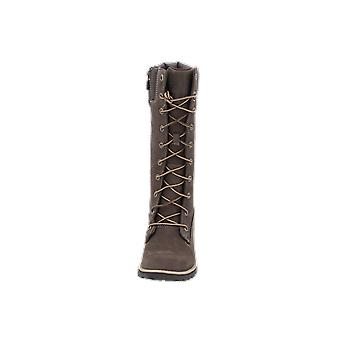 Timberland Girls Classic Tall Lace Up with Side Zip Kinder Mädchen Stiefel Braun