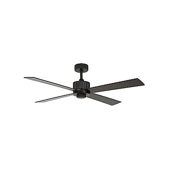 Dc plafond ventilateur Newport Black avec LED et à distance