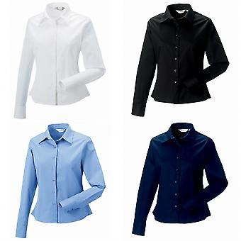 Russell Collection Womens/Ladies Long Sleeve Classic Twill Shirt