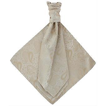 Michelsons de Londres Paisley Tonal gravata e lenço de bolso conjunto - Taupe