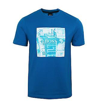 Hugo boss men's blue troaar 5 t-shirt