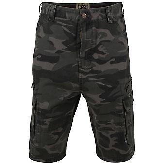 Kam Jeanswear Mens Camo Cargo Shorts