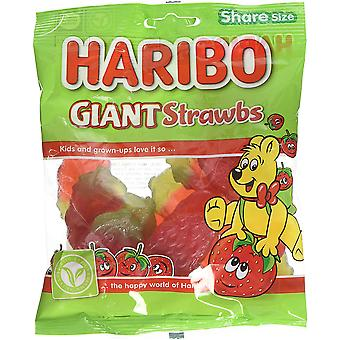 HARIBO Giant Strawbs 1.7kg, dulces a granel, 12 paquetes de 140g