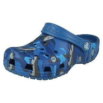 Pojat Crocs Shark Yksityiskohtaiset Tukkii Classic Shark Clog PS