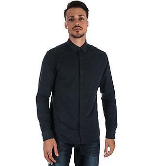 Män & apos; s Jack Jones Antonio Plain långärmad skjorta i blått