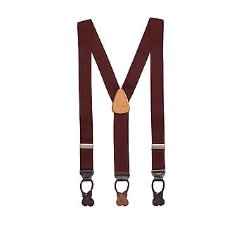 Brooks Brothers Men's Suspenders With Leather Detail